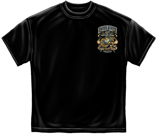 """**(NEW-OFFICIALLY-LICENSED,""""U.S.MARINES-CORPS & FAILURE-IS-NOT-AN-OPTION/MARINE-GLOBE & ANCHOR"""",NICE-CUSTOM-DETAILED-GRAPHIC-PRINTED/PREMIUM-DOUBLE-SIDED-MARINES-TEES:)**"""