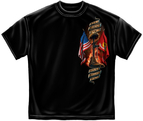 "**(LICENSED-U.S.MARINES-CORPS,""HOME-OF-THE-FREE & BECAUSE-OF-THE-BRAVE,WITH-FLAG/GLOBE & ANCHOR"",NICE-CUSTOM-DETAILED-GRAPHIC-PRINTED/PREMIUM-DOUBLE-SIDED-TEES:)**"
