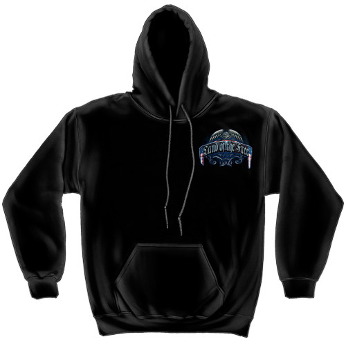 "**(NEW-OFFCIALLY-LICENSED,""LAND-OF-THE-FREE-BECAUSE-OF-OUR-BRAVE & WAR-MEMORIAL-WALL,NICE-DETAILED-CUSTOM-GRAPHIC-PRINTED/PREMIUM-DOUBLE-SIDED,FLEECE-PULLOVER-HOODIES:)**"