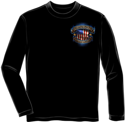 "**(NEW-OFFICIAL,""I-STAND-FOR-THE-FLAG & KNEEL-TO-PRAY"",NICE-DETAILED-CUSTOM-GRAPHIC-PRINTED/PREMIUM-DOUBLE-SIDED-LONG-SLEEVE-TEES:)**"