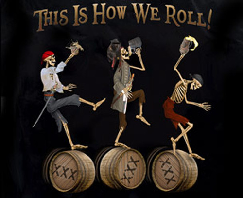 "(NEW-LICENSED,""HOWS-IT-HANGING? & THREE-SCALLYWAGS"",VERY-NICE-GRAPHIC-PRINTED-PREMIUM-DOUBLE-SIDED-TEES:)"