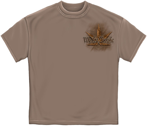 (NEW-WE-THE-PEOPLE,WITHPOT-LEAF & THE-CONSTITUTION-OF-LEGALIZED-WEED,NICE-GRAPHIC-PRINTED-PREMIUM-DOUBLE-SIDE-TEES:)