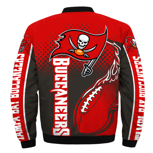 **(OFFICIAL-N.F.L.TAMPA-BAY-BUCCANEERS-JACKETS/IN-OFFICIAL-BUCCANEERS-TEAM-COLORS & OFFICIAL-CLASSIC-BUCCANEERS-LOGOS-BOMBER/FLIGHT-JACKET & NICE-CUSTOM-3D-GRAPHIC-PRINTED-DOUBLE-SIDED-ALL-OVER-DESIGN/WARM-PREMIUM-N.F.L.SBUCCANEERS-TEAM-JACKETS)**