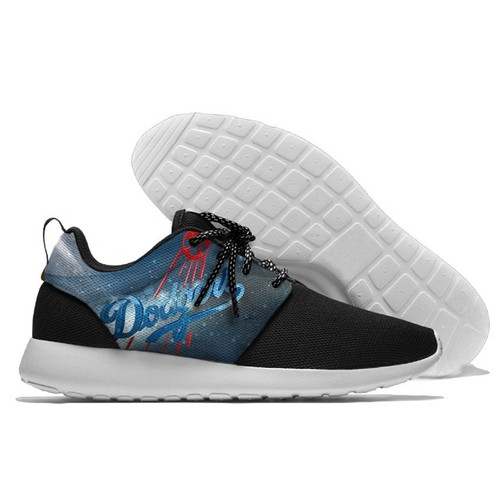 **(OFFICIAL-M.L.B.LOS-ANGELES-DODGERS-RUNNING-SHOES,MENS-OR-WOMENS-ROSHE-STYLE,LIGHT-WEIGHT-SPORT-PREMIUM-RUNNING-SHOES/WITH-OFFICIAL-DODGERS-TEAM-COLORS & OFFICIAL-DODGERS-TEAM-LOGOS,SPECIAL-COMFORT-CUSHIONED-INSOLES/TRENDY-NEW-TWO-TONE-DESIGN)**