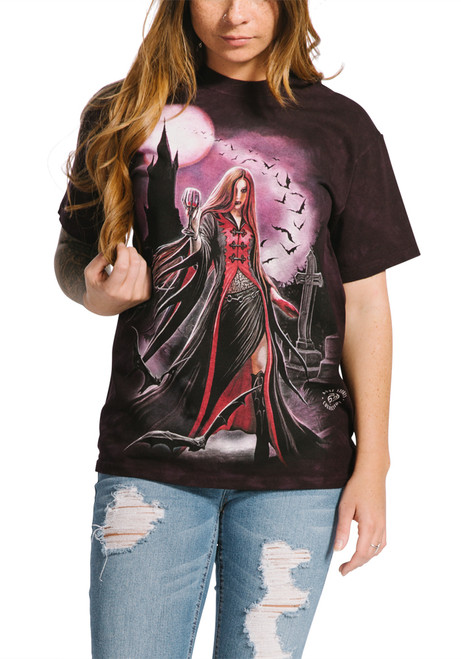 **(NEW-OFFICIAL-LICENSED/THE-MOUNTIAN-BRAND & DESIGN/CLASSIC-CEMETERY-VAMPIRESS & FULL-MOON-TEES/BEAUTIFULLY-DETAILED-CUSTOM-GRAPHIC-PRINTED/PREMIUM-U.S.A. MADE-TEES)**