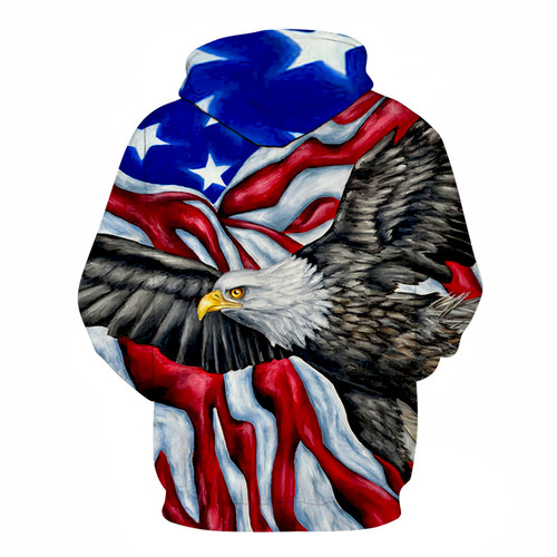 **(TRENDY-NEW-MENS & WOMENS/3-D>CUSTOM-DETAILED-GRAPHIC-PRINTED-HOODIES/BIG-BEAUTIFUL-3D-PATRIOTIC-BALD-EAGLE/STUNNING-STARS & STRIPES-FLAG,PREMIUM-DOUBLE-SIDED-PRINTED-PULLOVER-POCKETED-3D-HOODIES)**