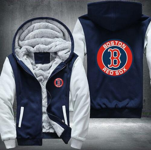 **(OFFICIAL-BOSTON-RED-SOXS,PREMIUM-ZIP-UP-FRONT-HOODIES/THICK-FLEECE-INNER-LINED & IN-MIDNIGHT-BLACK & LITE-GREY-TWO-TONE-COLOR/3D-GRAPHIC-DOUBLE-SIDED-PRINTING,WITH-OFFICIAL-CLASSIC-RED-SOXS-LOGO-ON-BOTH-SIDES)**