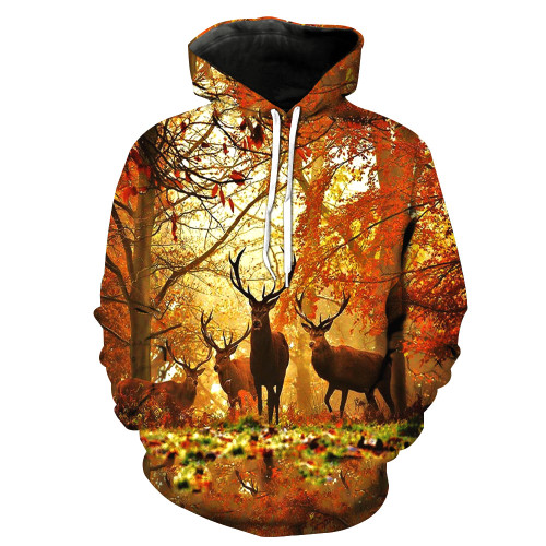 (OFFICIAL-MENS-BUCK-HUNTING/3-D>CUSTOM-DETAILED-GRAPHIC-PRINTED-HOODIES/BEAUTIFUL-BAND-OF,BIG-TROPHY-BUCK-BROTHERS/WITH-STUNNING-SUNRISE-IN-THE-FOREST,PREMIUM-DOUBLE-SIDED-PRINTED-PULLOVER-POCKETED/NICE-3D-HUNTERS-HOODIES)