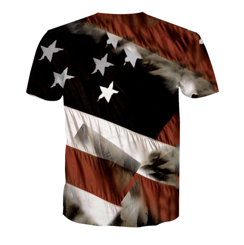 **(NEW-MENS-OFFICIAL-3-D-ALL-OVER-GRAPHIC-PRINTED-TEES/BIG-BEAUTIFUL-BALD-EAGLE & PATRIOTIC-STARS/STRIPES,NICE-DETAILED-CUSTOM-GRAPHIC-PRINTED/PREMIUM-FULL-3D-EFFECT-DOUBLE-SIDED-TEES)**