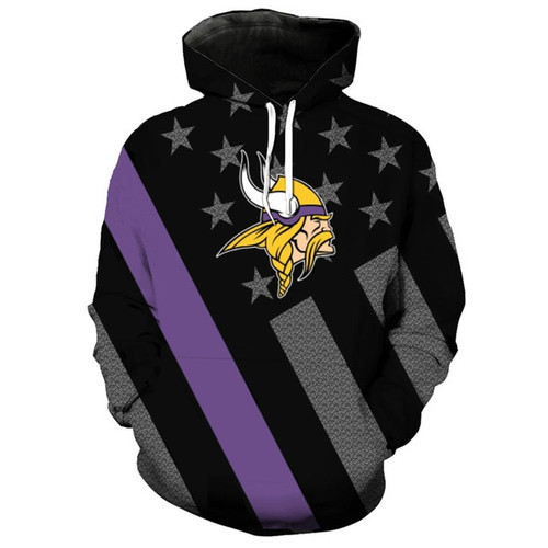 OFFICIAL N.F.L.MINNESOTA VIKINGS TRENDY PATRIOTIC PULLOVER TEAM  supplier