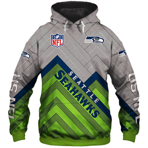**(OFFICIAL N.F.L.SEATTLE SEAHAWKS PULLOVER HOODIES3D CUSTOM SEAHAWKS LOGOS & OFFICIAL SEAHAWKS TEAM COLORSNICE 3D DETAILED GRAPHIC PRINTED DOUBLE S
