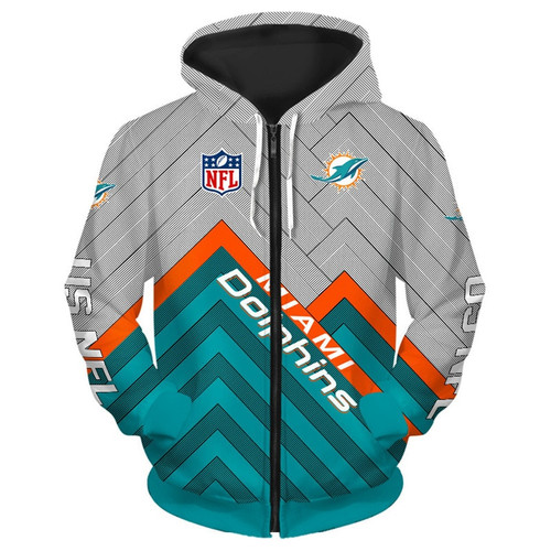 wholesale dealer 4195b a0ae2 **(NEW-OFFICIAL-N.F.L.MIAMI-DOLPHINS-ZIPPERED-HOODIES/3D-CUSTOM-DOLPHINS-LOGOS  & OFFICIAL-DOLPHINS-TEAM-COLORS/NICE-3D-DETAILED-GRAPHIC-PRINTED-DOUBLE...