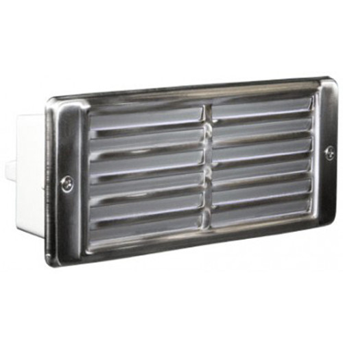 12V Stainless Steel Louvered Recessed Brick Step Light - LV600-SS304 on