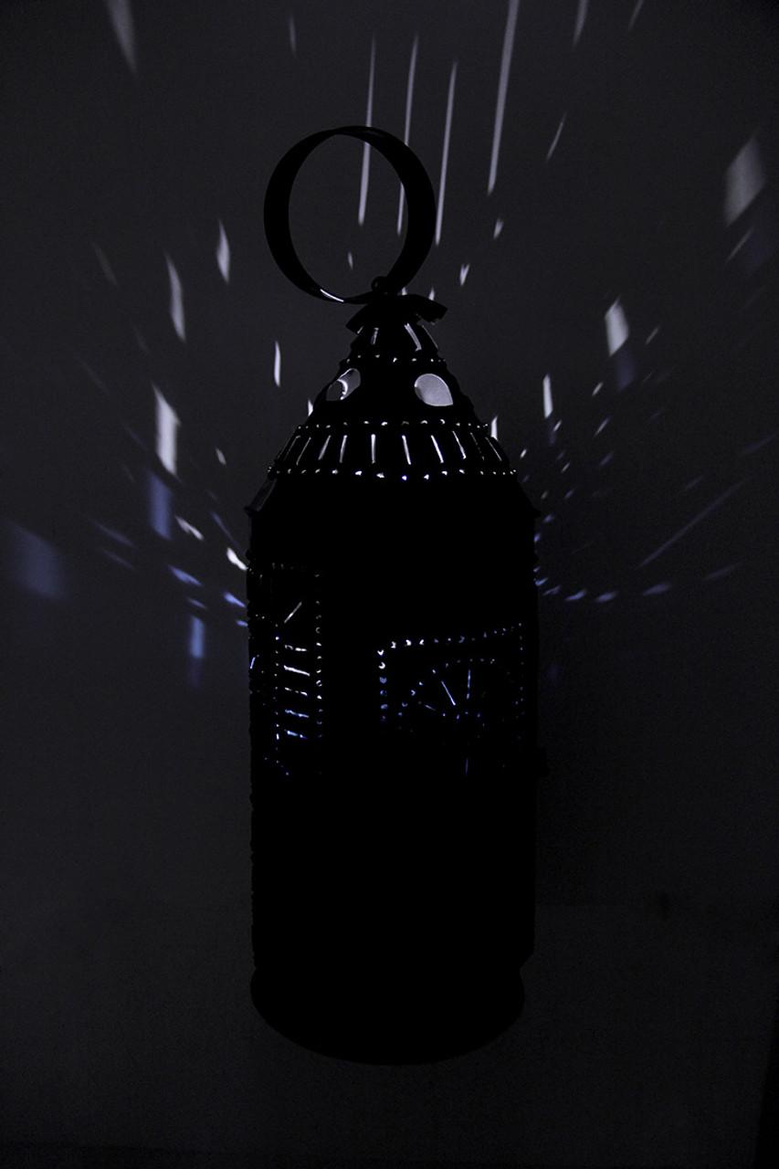 Punched Tin Antique Finish Sturbridge Tall Candle Lantern 17 Inch Main image