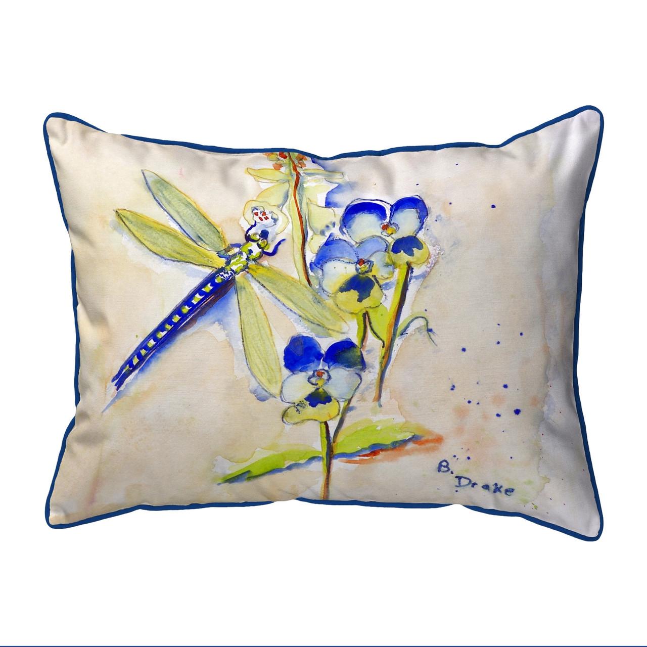 Betsy Drake SN387 Dragonfly Pillow,11 X14