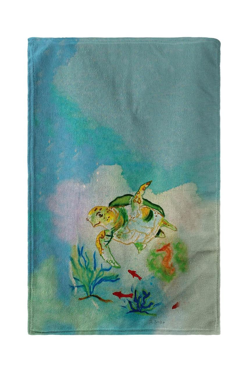 Betsy Drake Betsyu0027s Sea Turtle Kitchen Towel