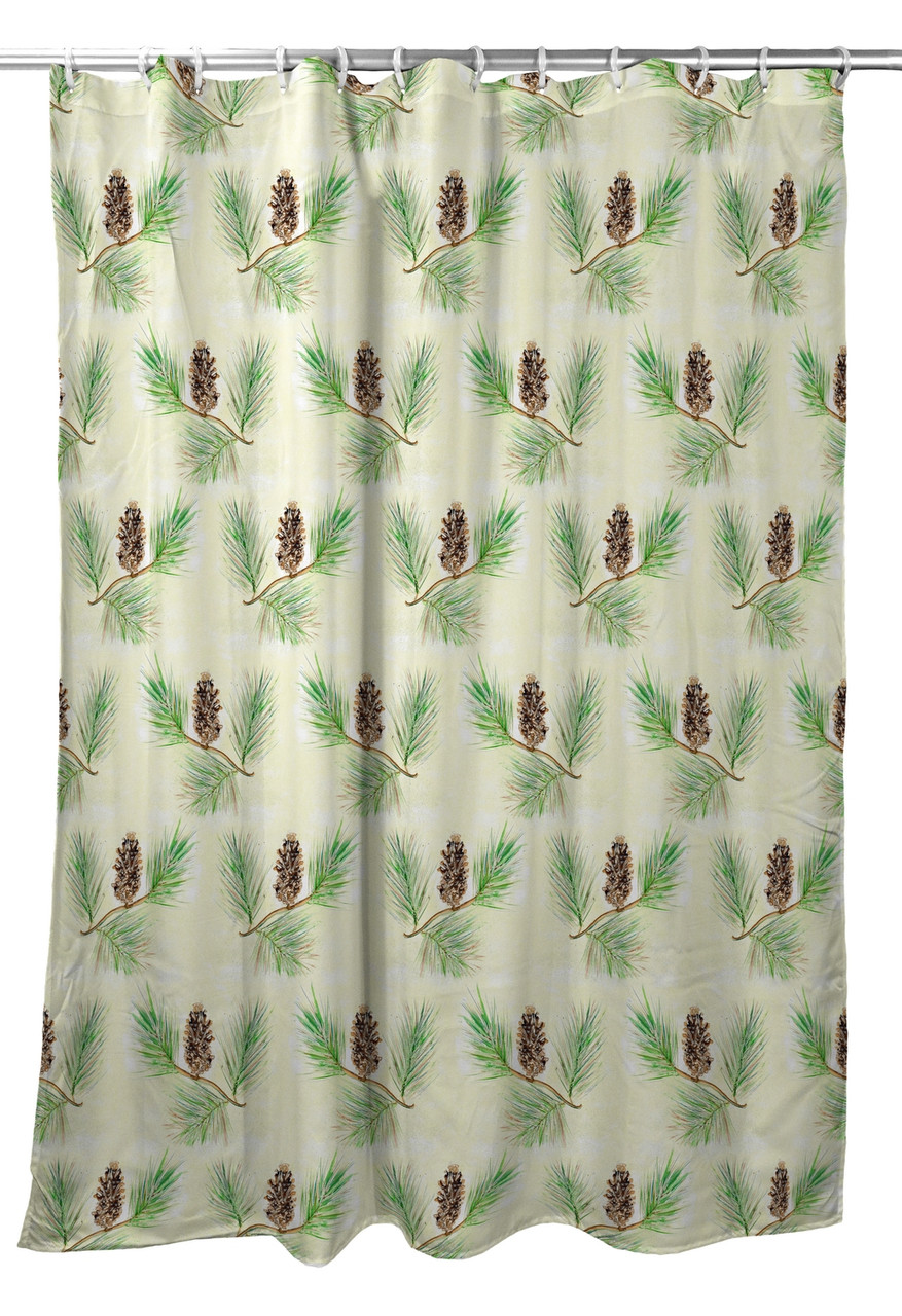 Betsy Drake Betsys Pine Cone Shower Curtain Main Image