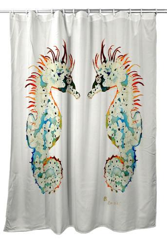 Betsy Drake Betsys Sea Horse Shower Curtain