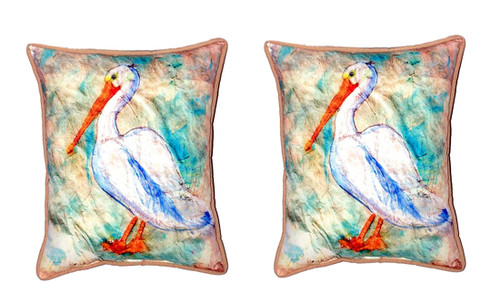 Betsy Drake NC552 Pelican Head No Cord Pillow 16 x20