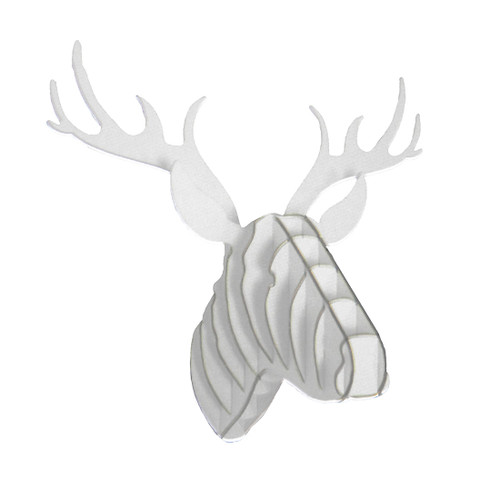 Zeckos White Arctic Wolf Head Wall Mount Sculpture
