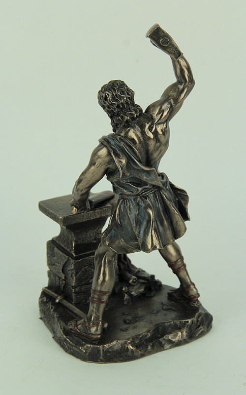 Hephaestus Greek God Of Fire And Forge Bronze Finished Statue
