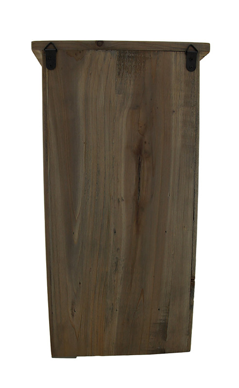 Rustic Reclaimed Wood Wall Cabinet W Shelf And Hooks 20 In