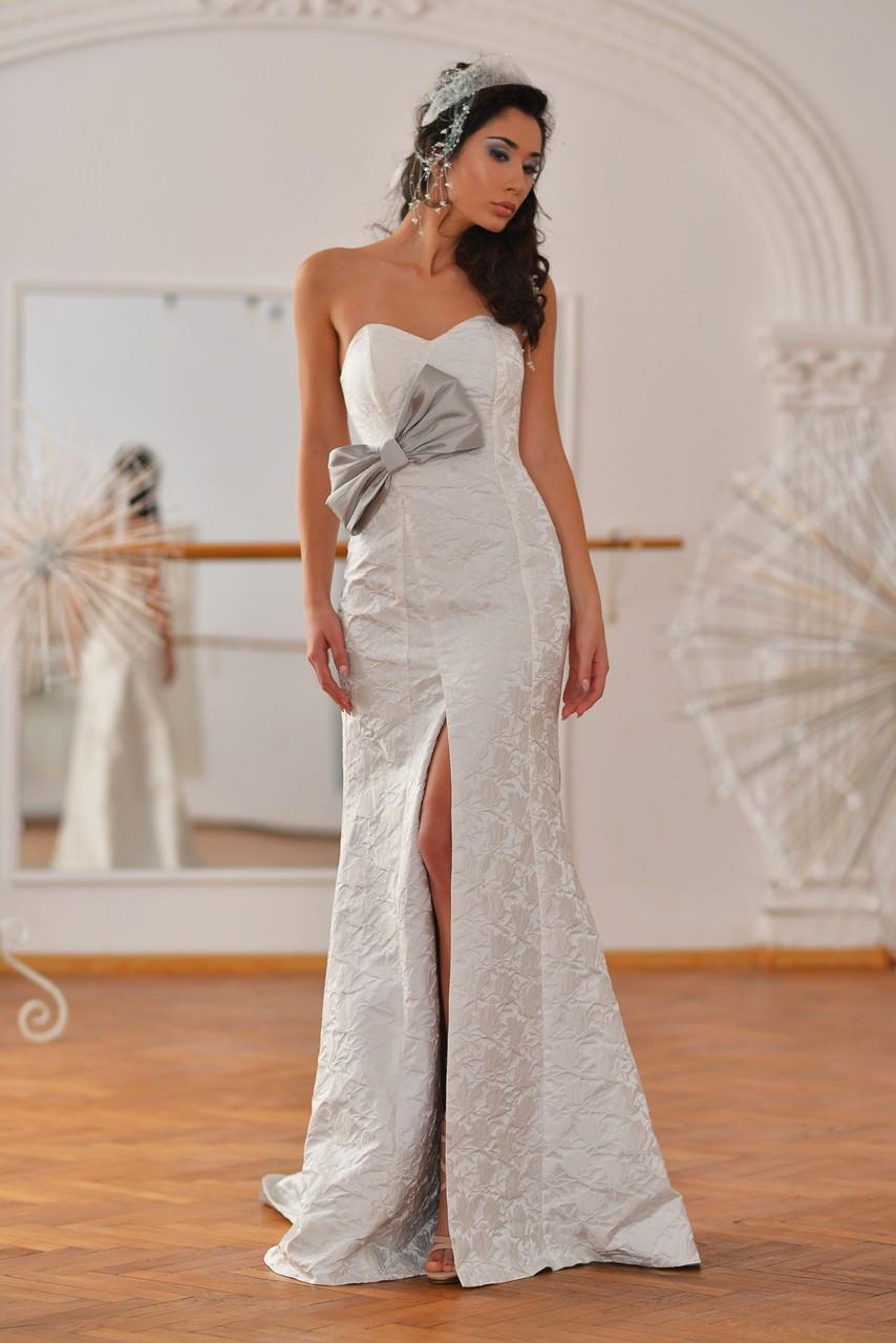 Phoenix Dress (White Brocade Wrap Gown)