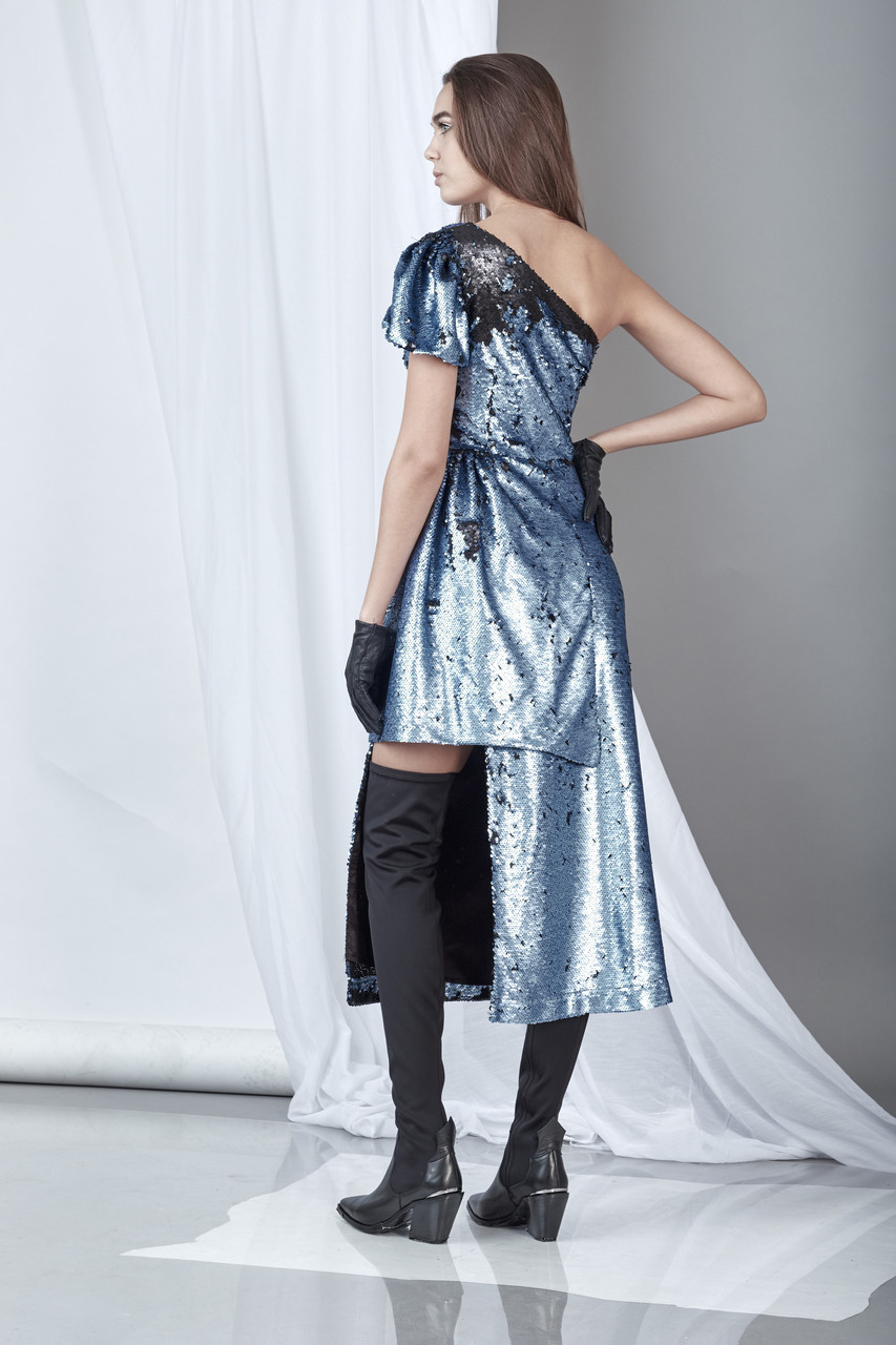 Significance Dress (Sequined crepe midi dress)
