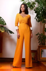 The Clouded Yellow Jumpsuit (High Waisted Jumpsuit with Silk Cuffs)