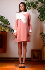 The Butterfly Dress (Wool Mini Dress with Silk Butterfly)
