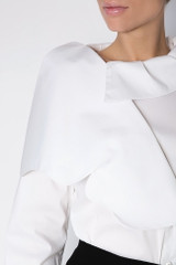 The Butterfly Shirt (White Poplin Shirt with Butterfly)
