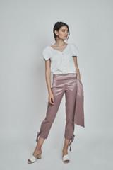 Nana Shirt (Asymmetric Ribbed Poplin Shirt)