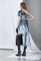 Significance Dress (Sequined crepe midi dress)