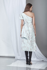 Significance Dress (Light Blue 3-D Lace Midi Dress)