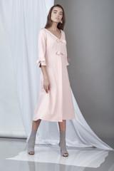 Endurance Dress (Powder Pink Midi Dress)