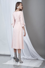 Endurance Dress (Powder Pink Midi Dress)
