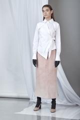 Fearless Shirt (White Cotton Poplin Asymmetric Shirt)