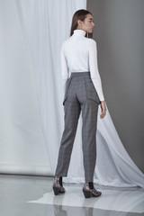 Sharp Pants (Check Wool Straight-Leg Pants)