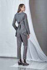 Sharp Blazer (Asymmetric Wool Blazer with cut-out detail on the back)