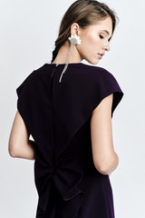 SUSUR Dress (Blackberry Dress with Structural Back)