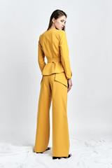 ZORI Pants  (Mustard Wide-Leg Pants with Side Panels)