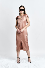 ZANA Dress (Silk-blend Midi Tunic Dress)