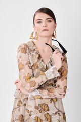Round Dress (Silk Dress with Front Ruffles)