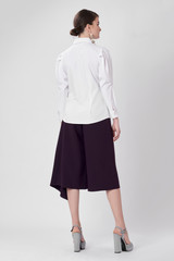 Triangle Blackberry Pants (Cropped Pants with Side Pleat)