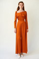 SKYLINE Wide-leg Orange Trousers
