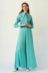SKYLINE Wide-leg Mint Trousers