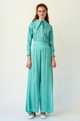 SKYLINE Wide-leg Mint Trousers
