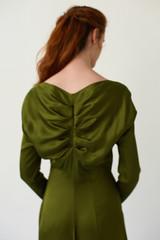 CELESTIAL Pesto Midi Dress with Back Pleats