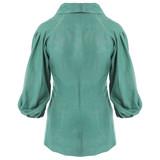 PHOENIX Mint Blazer with Pleated Raglan Sleeves