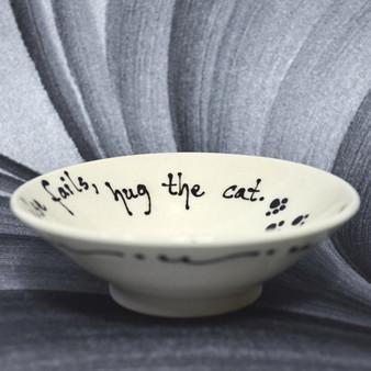 Pottery Mountain -  When all else fails, hug the cat.
